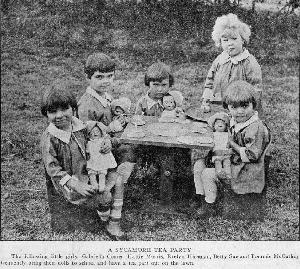 Sycamore Tea party Avondale Sun 1927 v. 4, no.01-10 (January-March)
