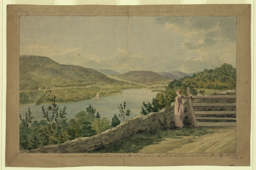 View of the Hudson near West Point - artist