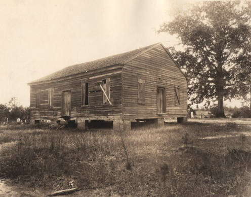 Wooden church building in rural Tuscaloosa County, Alabama - 1920 (Alabama State Archives)