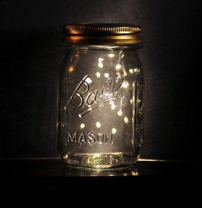 lightening bugs in a jar