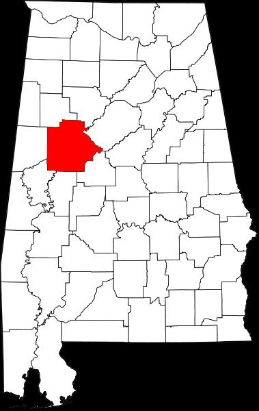 map of tuscaloosa