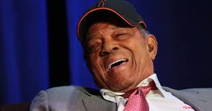 willie mays laughing