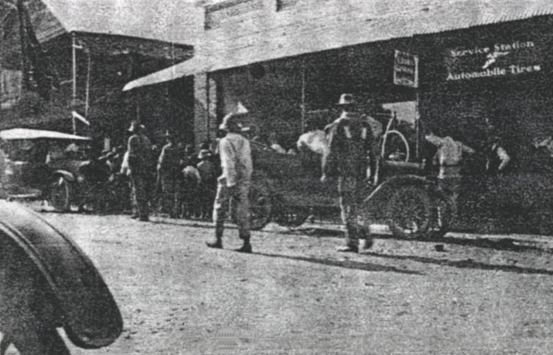 1930s scene in Castleberry (from Baggett history)