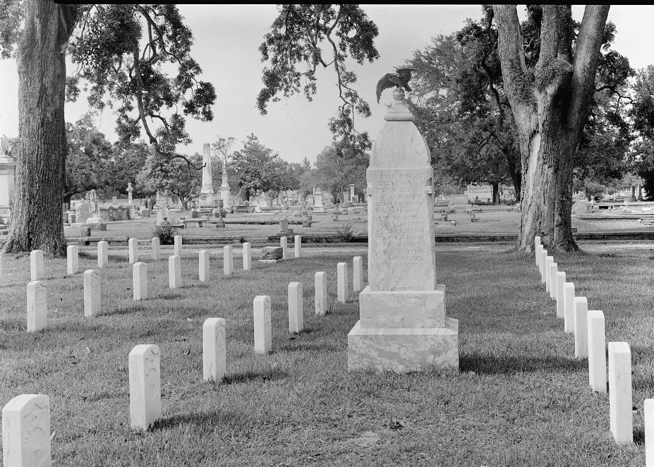 76TH Illinois Volunteer Infantry Memoria, Section 1. View to North. ca. 1940s- Mobile National Cemetery