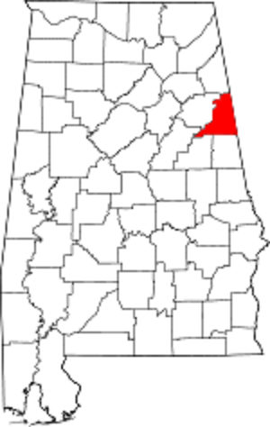 Alabama-map-showing-Cleburne-County