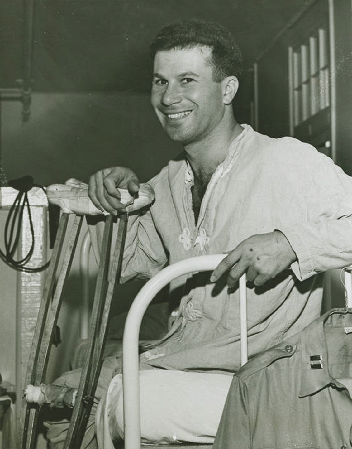 Photographs of wounded World War II veterans in 1945 at Northington Hospital in Tuscaloosa, Alabama