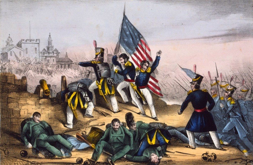 Attack on Chapultepec, Sept. 13th 1847--Mexicans routed with great loss (Wikipedia)