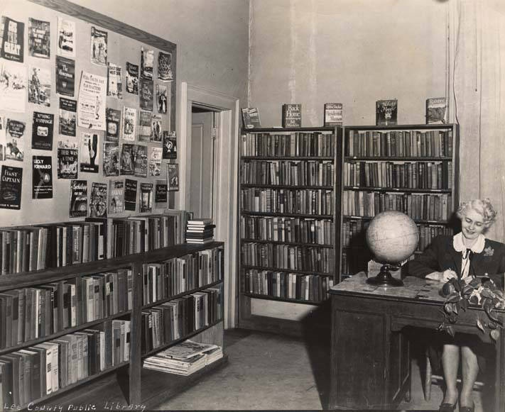 Bertha Miller, librarian at the Lee County Public Library ca. 1945, Yutmeyer's Studio, Opelika, Alabama Q4560