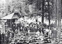 Large crowds once gathered at camp meetings in early Alabama