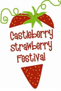 Castleberry Strawberry festival Logo