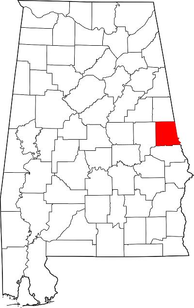 Chambers county map