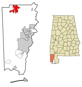 Citronelle, Alabama map