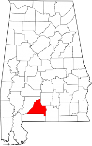 Conecuh countym, alabama map