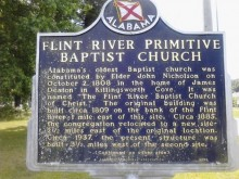 There was a split in the Baptist Church of Alabama in the early days – this is why