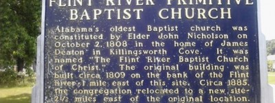 There was a split in the Baptist Church of Alabama in the early days - this is why