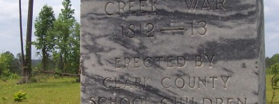 A brutal massacre occurred in Clarke County during the Creek War of 1813