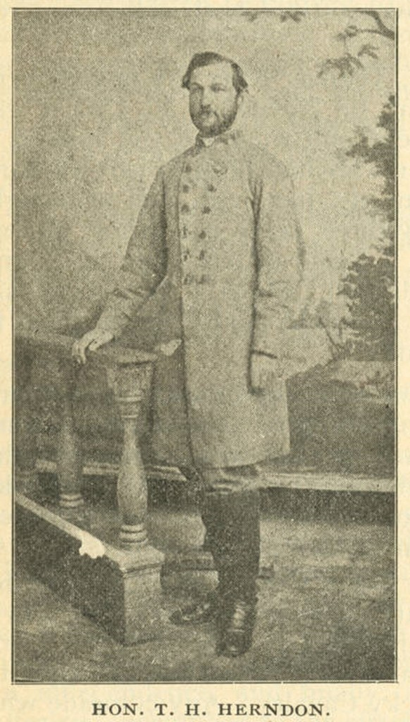 Herndon, Hon. T. H. Herndon (1828-1883)– Thomas Heard Herndon, first a major then colonel, 36th Alabama Infantry, Q4178