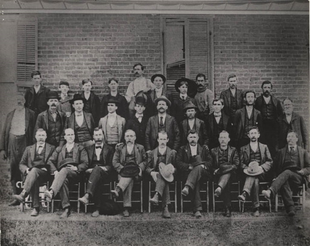 Hugo Lafayette Black with his law class at the University of Alabama. ca. 1904 Q4474