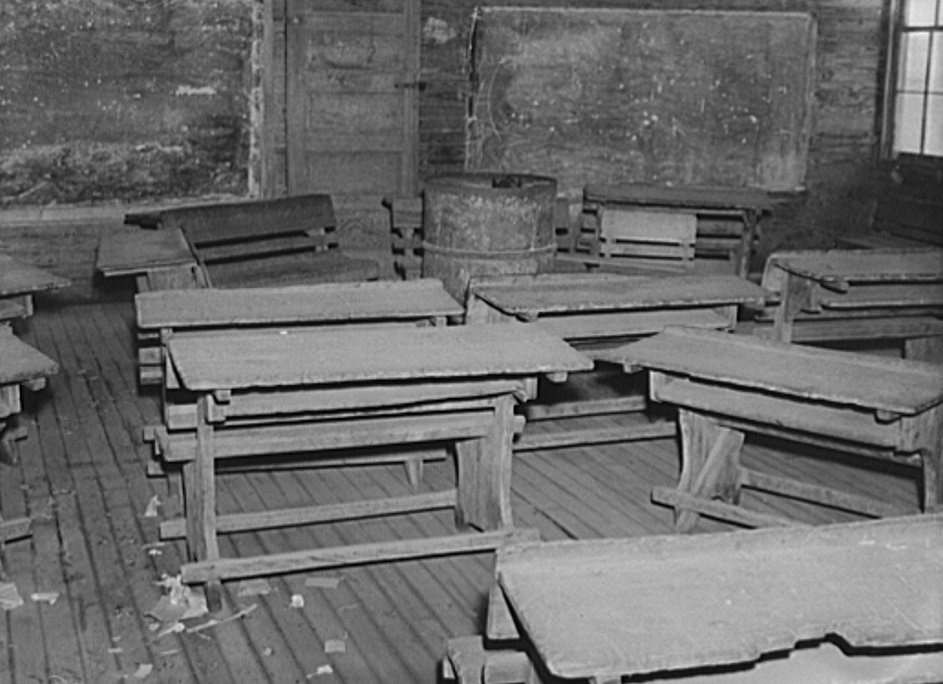 Interior of classroom in old Goodman school (the new Goodman school replaced three smaller schools). Coffee County, Alabama2