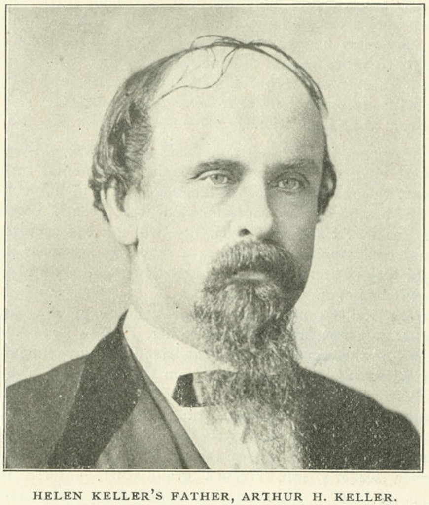 Keller, Arthur Henley Keller, father of Helen Keller, From Confederate Veteran, Vol. 11, pg. 245. Q4182