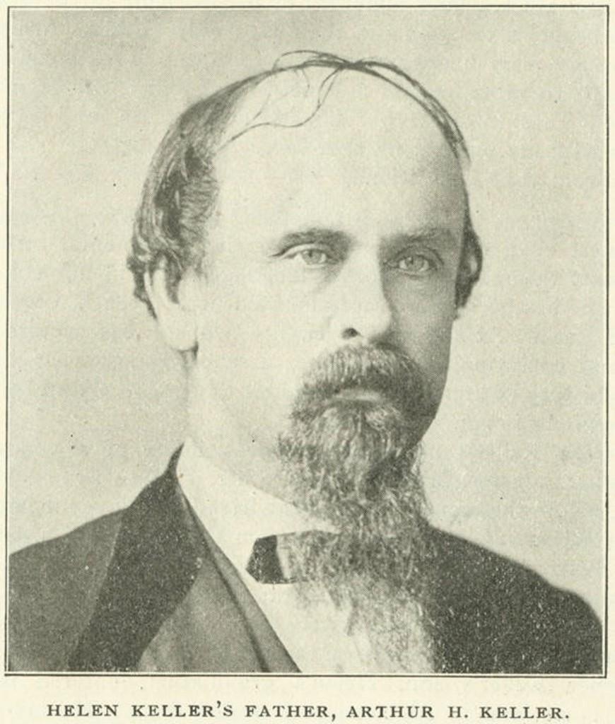 Keller, Arthur Henley Keller, father of Helen Keller, From Confederate Veteran, Vol. 11, pg. 245. Q4182