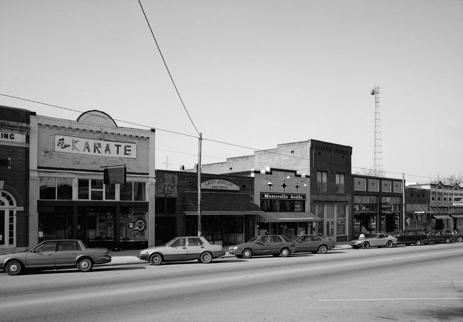 Main street, Montevallo, Alabama ca. 1960