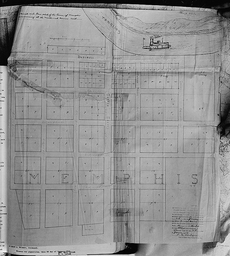 Map of town of Memphis (Library of Congress)