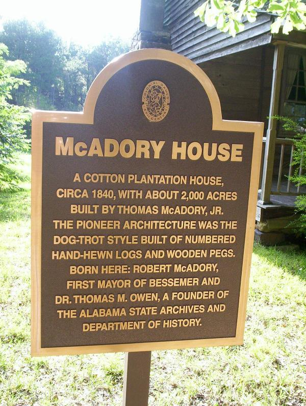 McAdory house sign