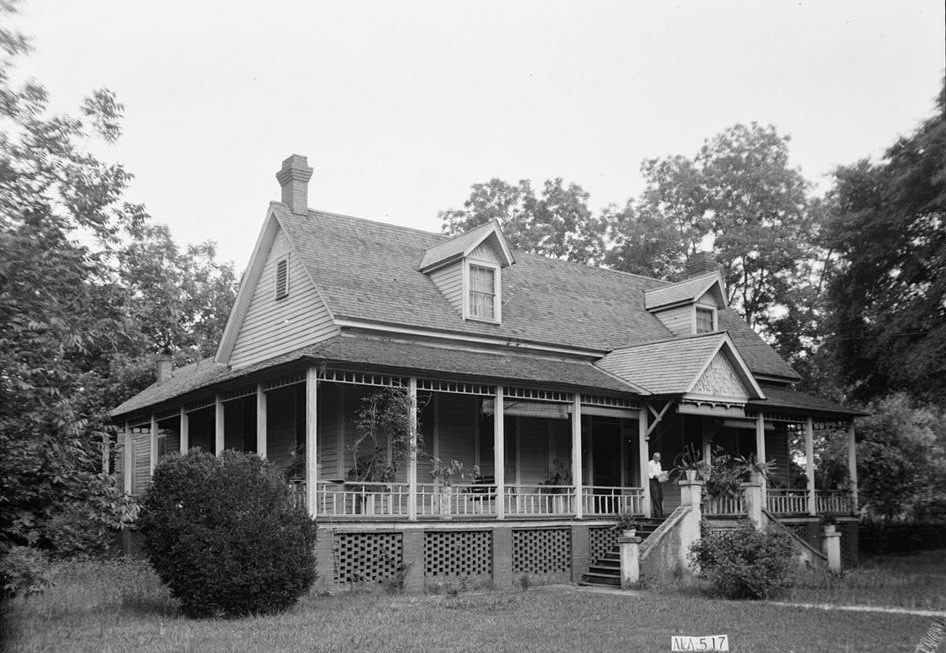 McDonald-Smartt house Eufaula, Alabama ca. 1930 (Library of Congress)