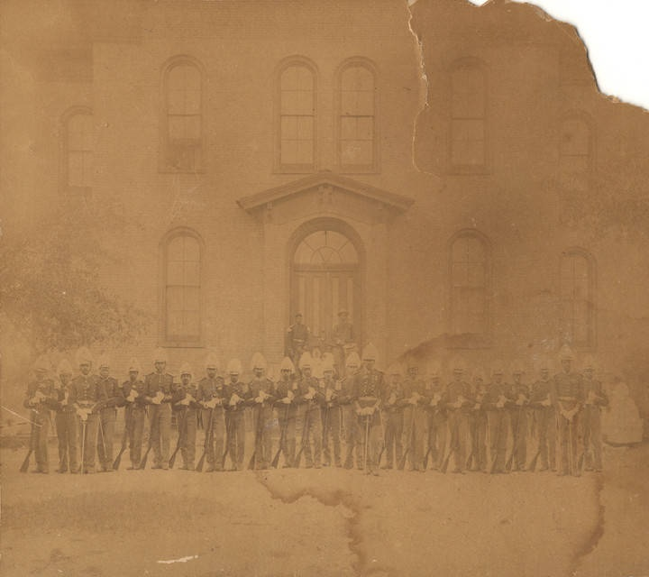 Members of the Capital City Guards in uniform -ca. 1900 - The Guards were the only African American militia for the city of Montgomery (Alabama Department of Archives & History)