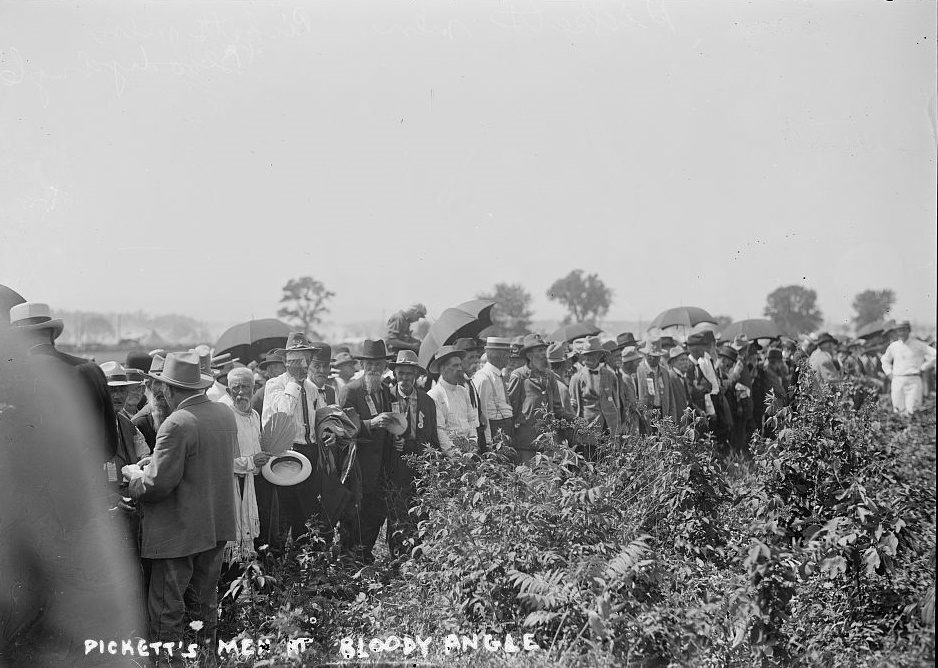 Pickett's men at Bloody Angle at reunion