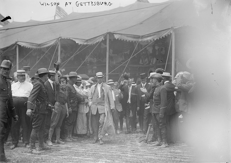 President Wilson at reunion