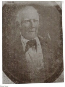 Biography: Richard Forsey born October 1, 1795 – photograph
