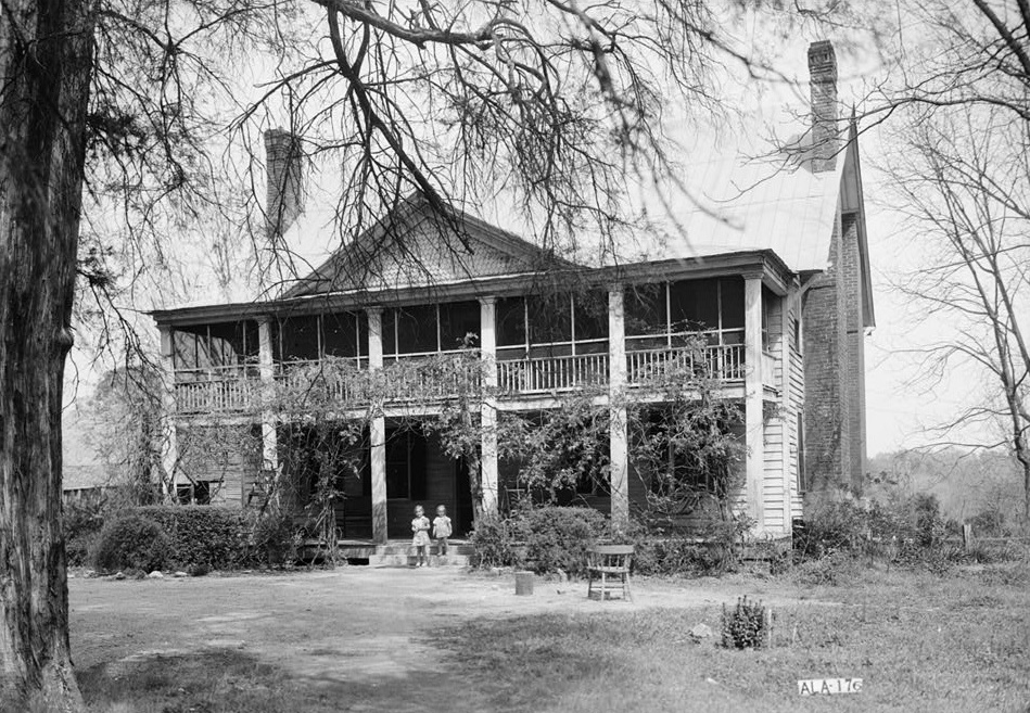 Thomas Dunn House, Broad Street, Camden, Wilcox County, AL Alex Bush, Photographer, March 27, 1937 WEST (FRONT) ELEVATION (Library of Congress)