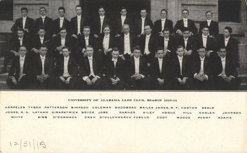 University of Alabama Glee Club, Season 1913-1914 Q8643
