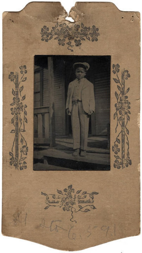 Young African American boy, possibly Tillie Brooks of Ensley, Alabama. ca. 1910 The photograph was taken in Bessemer. Q49338