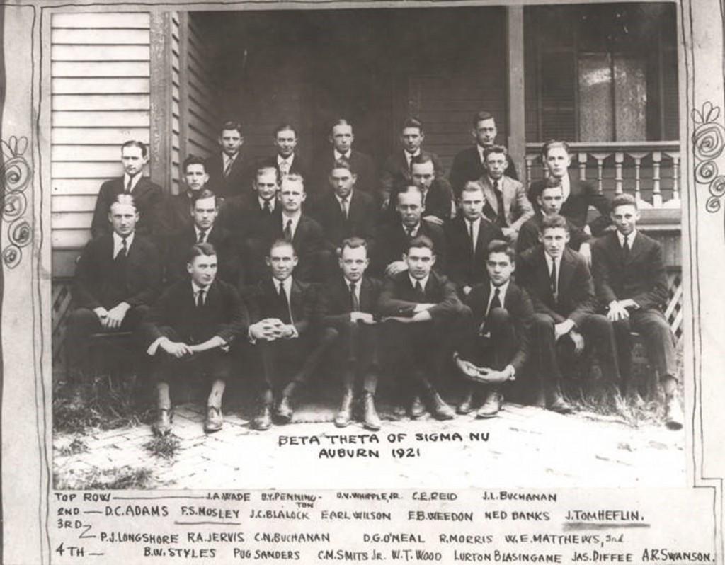 Beta Theta of Sigma Nu at Auburn University 1921 Q5366