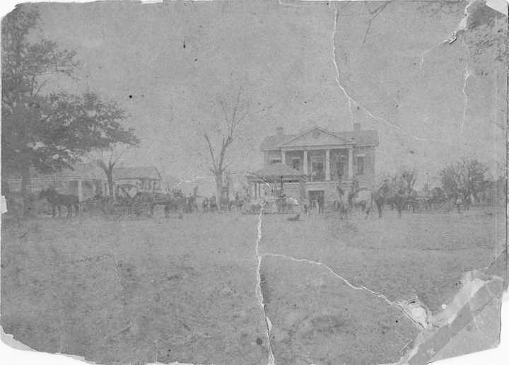 Bibb County Courthouse in Centreville, Alabama. Lookingnorth. The structurewasbuiltin1859and wasrazedtobuildthecurrentcourthouse. Q60053