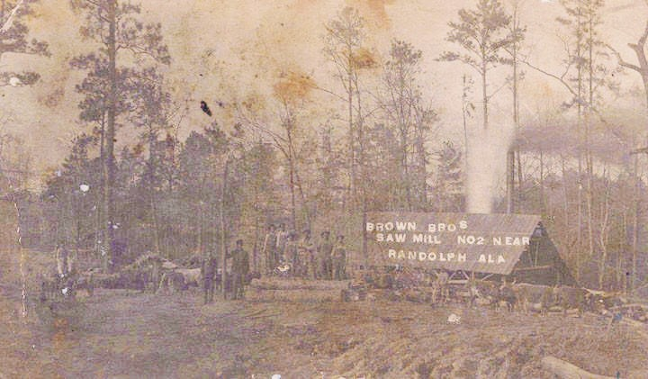 Brown Bros Sawmill, Randolph, Bibb county Q9463