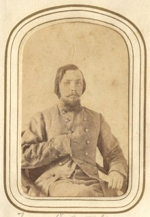 Four portraits of Captains who served in the Confederacy during the Civil War with links to source