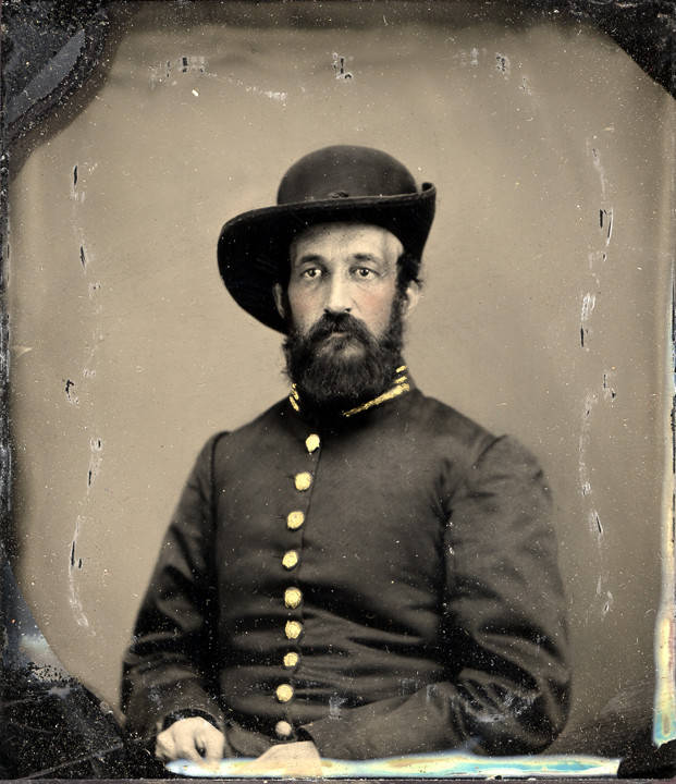 Guild, Captain Joseph Guild, Co. K, 20th Alabama Infantry, C.S.A previously misidentified as William J. Hughes, C. S. A. (b. 1804) – Ambrotype - Q650;Q651;Q652