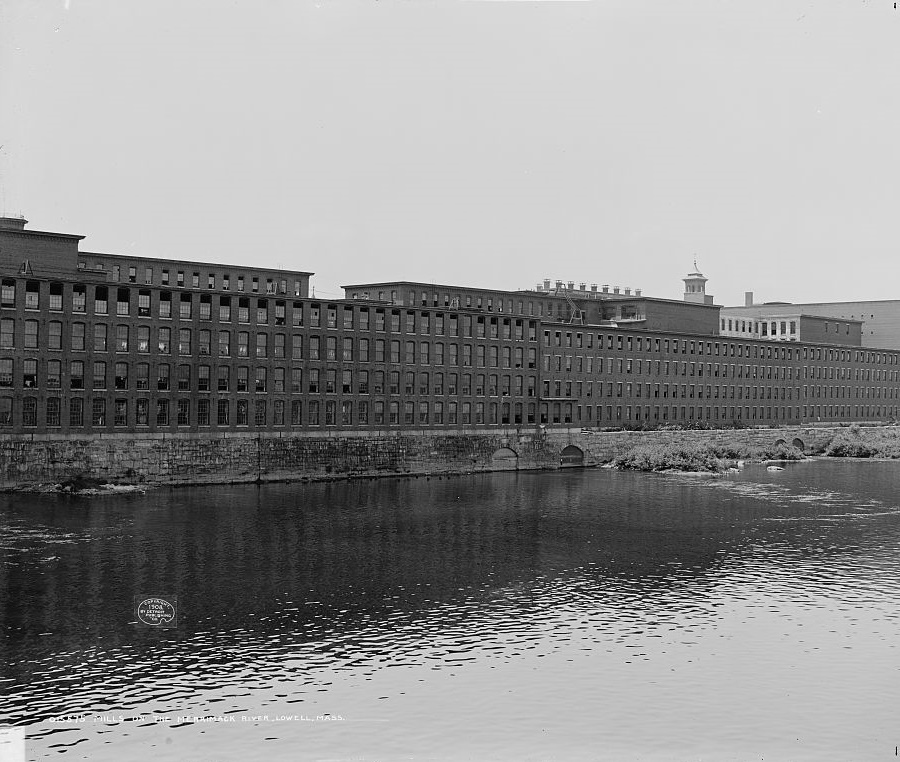 Merrimack mill Lowell Mass. 1900s Detroit Publishing,