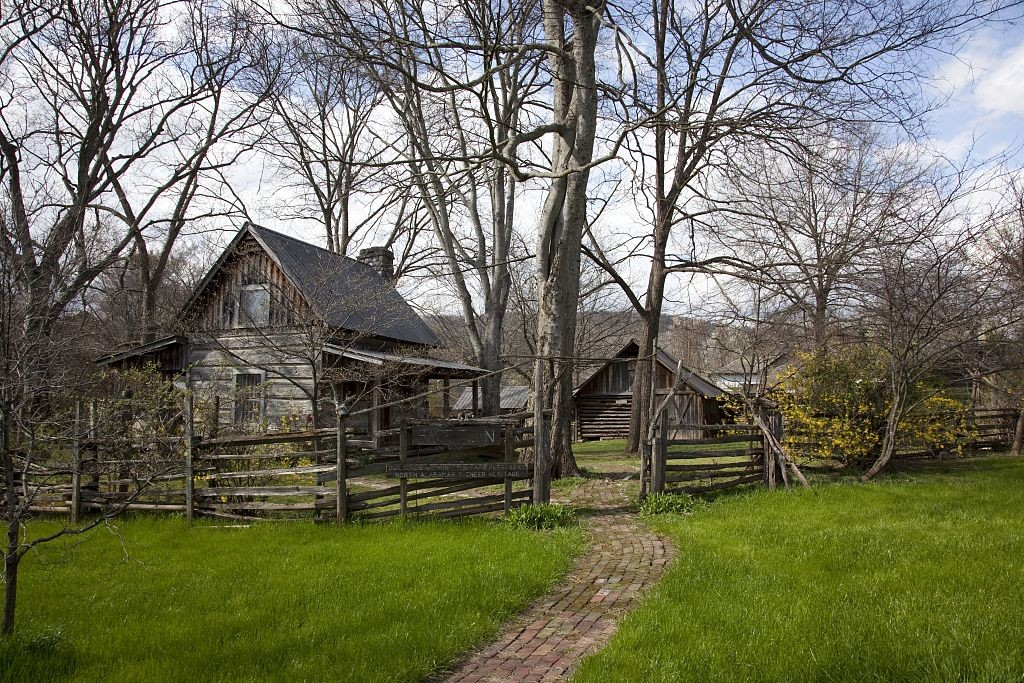 Sage Town buildings from the 1800s in a beautiful park setting, Scottsboro, Alabama by photographer Carol Highsmith 2010