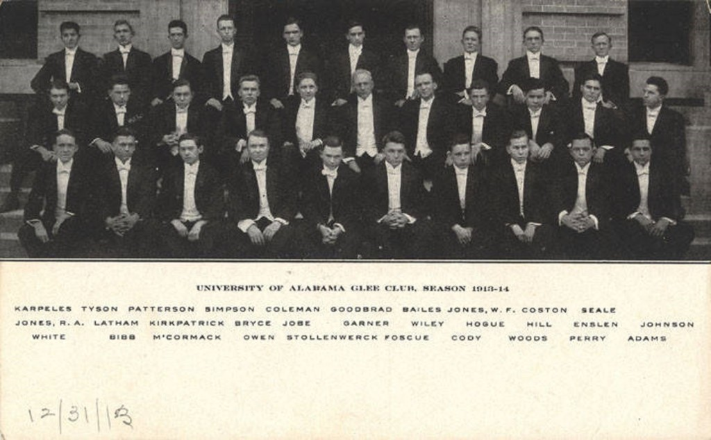 University of Alabama Glee Club, Season 1913-1914 Q8643