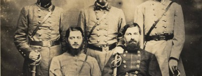 Photographs and information of five Confederate generals