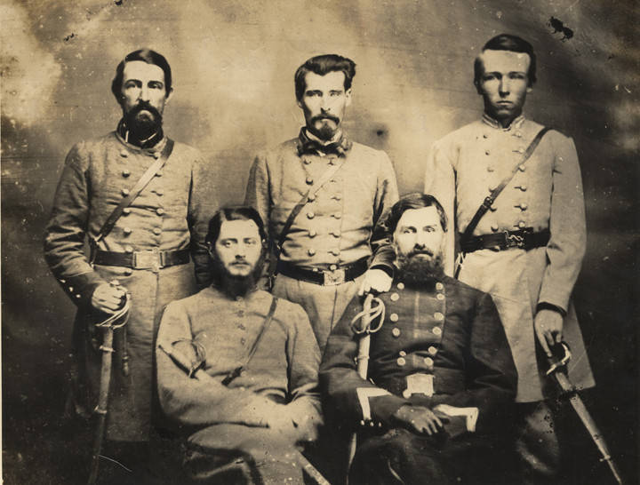 Wood, Brigadier_General_Sterling_Alexander_Martin_Wood_and_staff_CSA