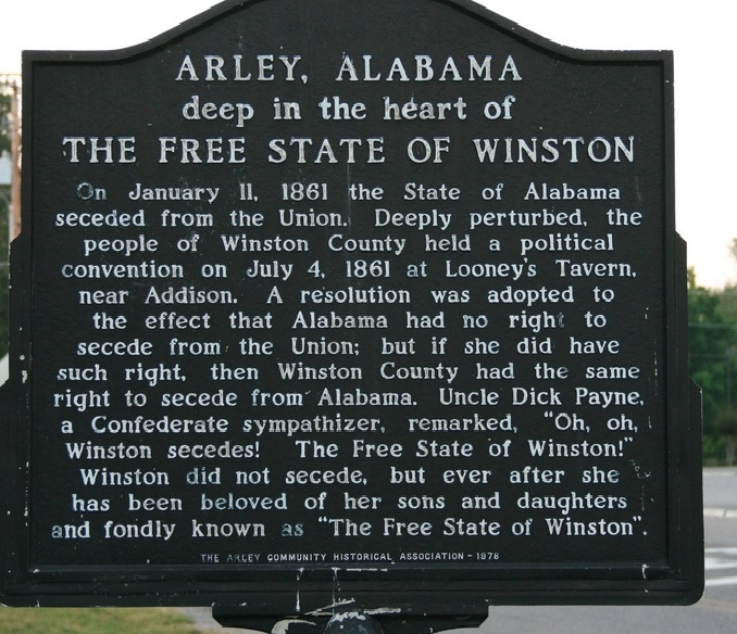 Arley, Alabama Marker
