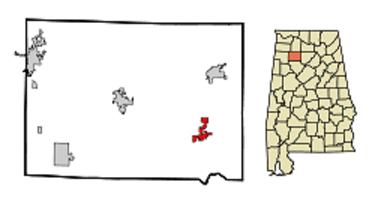 Arley map, Alabama from Wikipedia