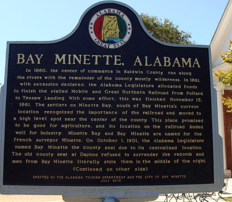 Bay Minette marker