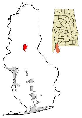 Bay minette, map